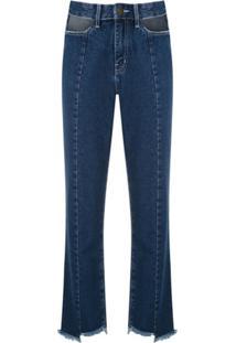 Framed Calça Jeans Cut Skinny - Azul