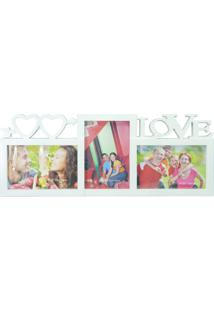 Porta Retrato Kasa Ideia Branco Love 17X43Cm