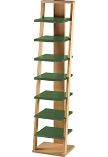 Estante Prateleira Suspensa Stairway Maxima Palha/Verde Musgo