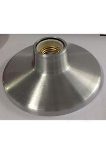 Plafon Lixado Soquete Aluminio Kin Light