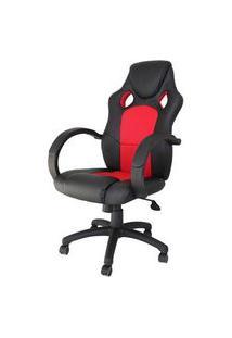 Cadeira Office Racer Preta E Vermelho - 27714 Preto E Vermelho