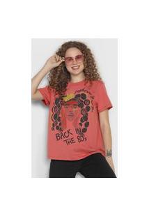 Camiseta Colcci Back In The 80'S Rosa