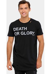 Camiseta Colcci Long Destroyed Death Or Glory Masculina - Masculino
