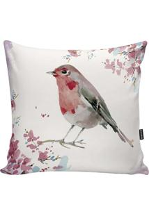 Capa De Almofada Birds- Branca & Rosa Claro- 45X45Cmstm Home