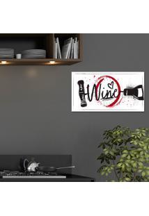 Placa Decorativa Abridor De Vinho Único Pump Up