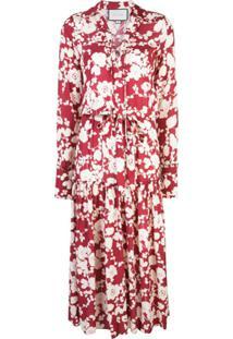 Alexis Vestido Ambrosia Com Estampa Floral - Vermelho