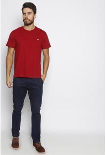 Camiseta Lisa Com Bordado- Bordã´- Javalijavali