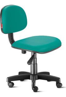 Cadeira Secretária Giratória Courvin Verde Esmeralda