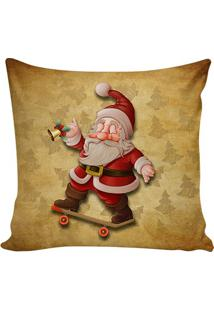 Capa Para Almofada Papai Noel- Marrom Claro & Vermelha