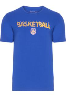 Camiseta Masculina Basketball Wordmark - Azul