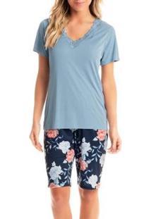 Pijama Curitiba Daniela Tombini Feminino - Feminino-Azul