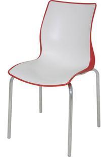 Cadeira Maja Cor Vermelho Com Branco - 21737 Sun House