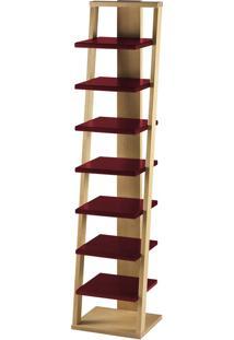 Prateleira Suspensa Stairway 1132 Palha/Bordo - Maxima