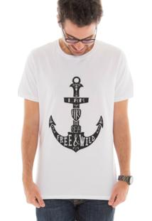 Camiseta Manga Curta Touts Ancora Branco