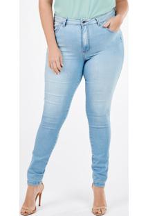 Calça Feminina Plus Size Jeans Skinny Sirlene