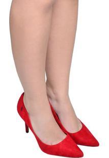 Sapato Feminino Scarpin Santa Lolla Vermelho