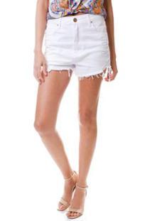 c6d67be52 R$ 62,95. Zattini Shorts Multi Ponto Denim Color Destroyed - Feminino-Branco