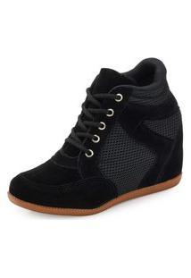 Tênis Sneaker Ana Lucia Al19-2001Nylon Preto
