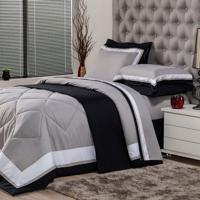 312a9d94c7 Edredom Solteiro Soft Comfort Poliéster Cinza