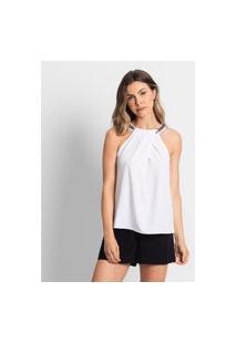 Blusa Crepe Feminina Endless Branco