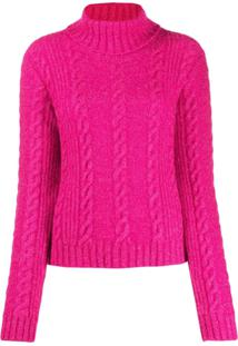Versace Cable-Knit Rollneck Jumper - Rosa