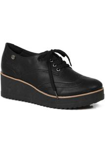 Sapato Oxford Feminino Quiz Clássico Preto