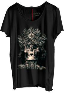 Camiseta Masculina Jay Jay Corte A Fio King Skull Preto