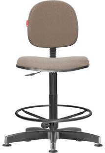 Cadeira Caixa Alta Executiva Giratória Crepe Areia