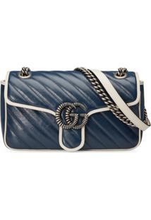 Gucci Gg Marmont Shoulder Bag - Azul