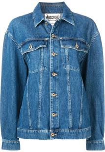 Moschino Jaqueta Jeans Oversized - Azul