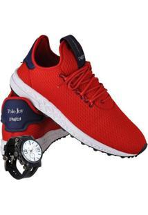 Kit Tênis Runner Polo Joy Sport Com Relogio Masculino - Masculino