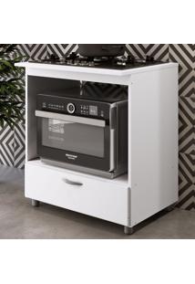 Armário De Cozinha Para Forno E Cooktop 5 Bocas 1 Gaveta Bl151 Branco - Completa Móveis