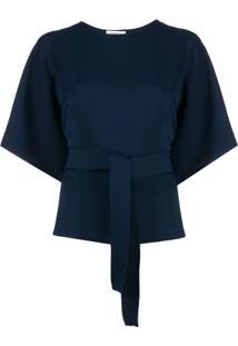 P.A.R.O.S.H. Suéter Slim Mangas Curtas - Azul