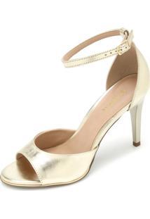 Sandália Amber Tiras Dourada