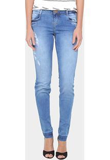 Calça Jeans Skinny Morena Rosa Andreia Cintura Baixa Feminina - Feminino