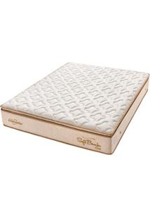 Colchão Casal Pillow Top Soft Bambu Gel One Face - Americanflex - Bege