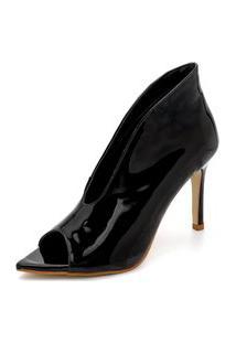 Sapato Scarpin Abotinado Salto Alto Fino Conforto