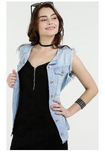 Colete Feminino Jeans Desfiado Marisa