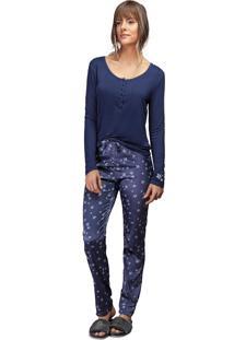 Pijama Comfort Lua Luá Shiny Dream - Azul