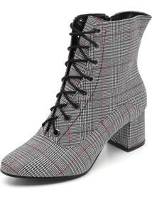 Bota Dafiti Shoes Xadrez Preto