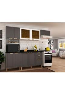 Cozinha Compacta Nevada I 9 Pt 3 Gv Grafite E Branca