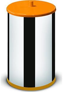 Lixeira 6,3 Litros Com Tampa E Fundo Laranja 54400V-04 - Martinazzo