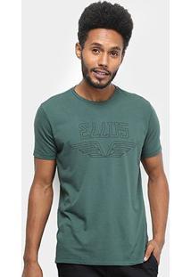 Camiseta Ellus Asa Classic Masculina - Masculino-Musgo