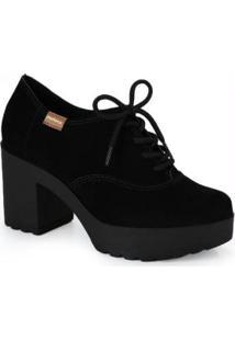 Sapato Oxford Moleca Tratorado Preto