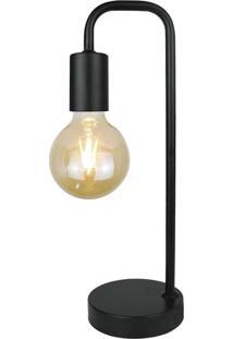 Abajur Carpi Premier Iluminação, 38X12, Metal E Plástico, Preto Única