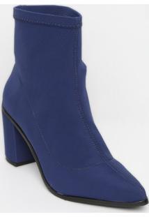 Bota Com Recortes- Azul Escuro- Salto: 8,5Cmschutz