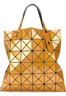 Bao Bao Issey Miyake Geometric Patterned Shopping Bag - Amarelo