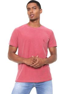 Camiseta Reserva Flame Estonada Vermelha