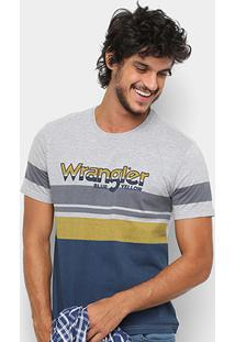 Camiseta Wrangler Listra Masculina - Masculino-Cinza