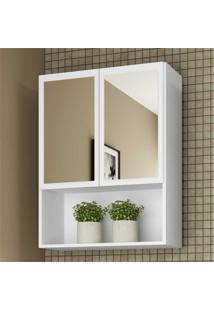 Armário De Banheiro Com Espelho E 2 Portas Multimóveis Branco